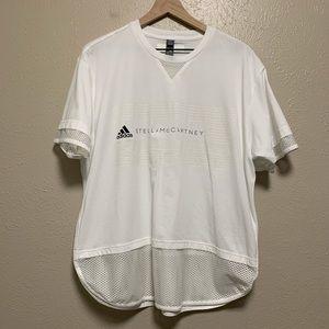 Adidas Stella McCartney white mesh detail shirt